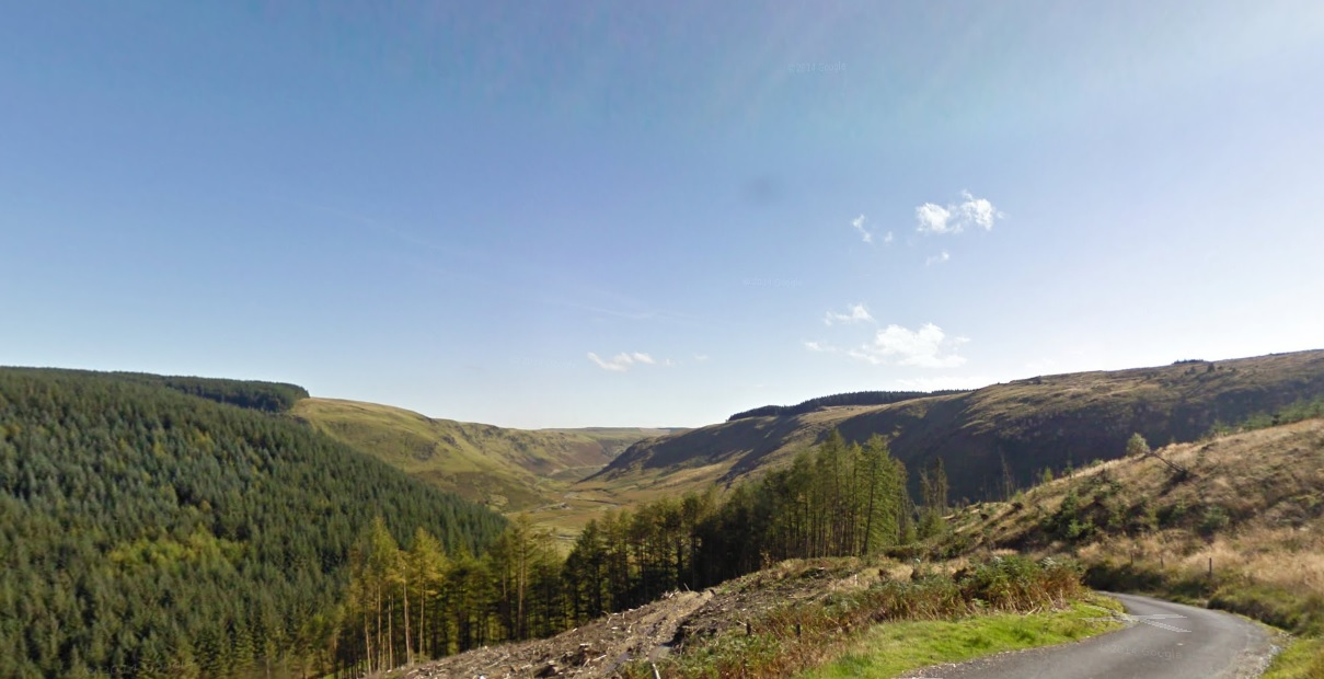 View from the top of the Devil's Staircase on May's Roof of Wales rideout.